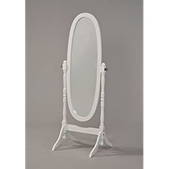 Amazon.com: Wooden Cheval Floor Mirror, White Finish by ...