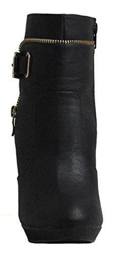 Boots 7 M Moda Top Black US Tigger Womens D 6 UwHpSqOF