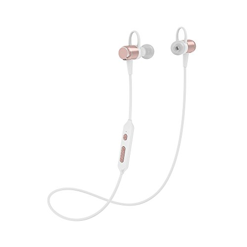 Wireless Bluetooth Headphones, Lightweight Sport EarphoneV4.1 Magnetic Noise Cancelling Sweatproof Stereo Sport Wireless Earphones Earbuds with Mic for Gym Running Workout Earbuds Headsets (Rose gold)