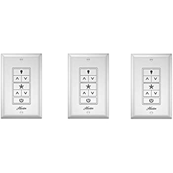 Hunter 99375 Universal Ceiling Fan Wall Control Universal