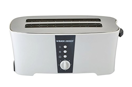 Black & Decker ET124 1350W 4-Slice Toaster (Non-USA Compliant), White by BLACK+DECKER