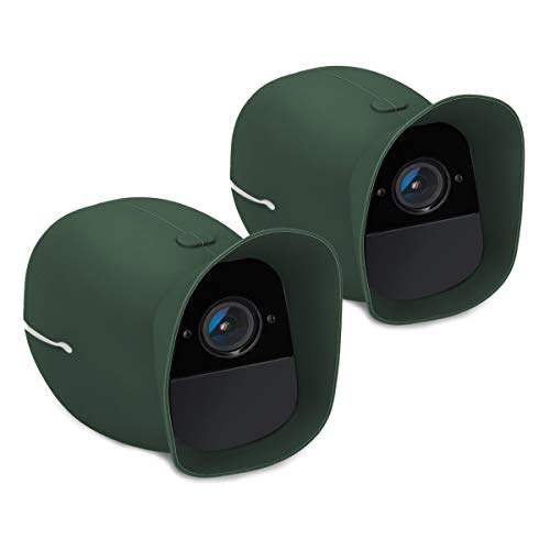 kwmobile 2X Skin for Arlo Pro/Pro 2 Smart - Silicone Security Camera Case Outdoor CCTV Protective Cover - Dark Green (Case Camera Camouflage)