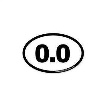 0 0 no running or marathon bumper sticker oval 5