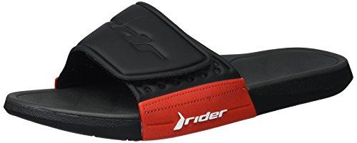 Rider Herren Infinity Link Slide Sandale Schwarz Rot