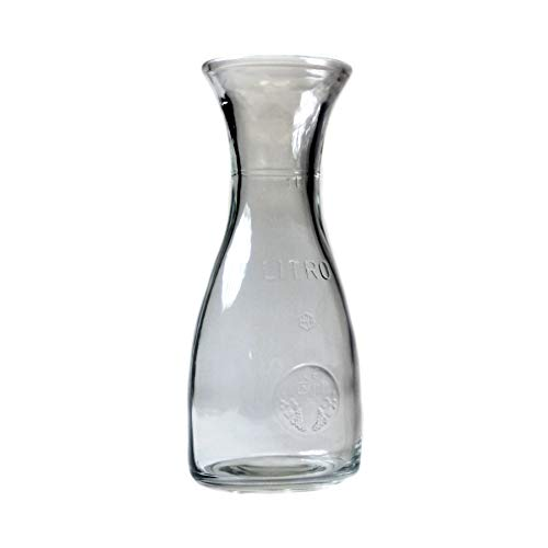 Bormioli Rocco Misura PZ Wine Carafe – Wide Mouth Clear Glass Carafe Pitcher For Water, Juice, Milk, Coffee, Iced Tea – Elegant Bistro Style Carafe Decanter With Authenticity Stamp – Made In Italy