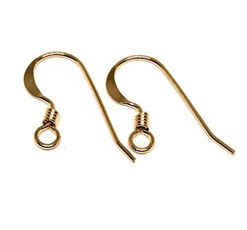 14kt Gold Filled Earring Hooks Coil Accent 22 Gauge (10 (5 -