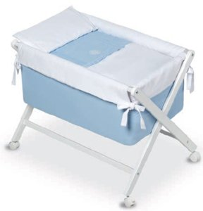 Kinder Elite–minicuna, 68x 90x 71cm, Farbe: weiß/blau