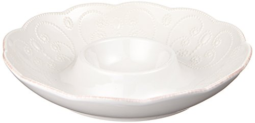 Lenox French Perle Chip and Dip, White