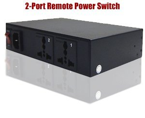 (2-Port Remote Power Switch with Universal AC Outlets)