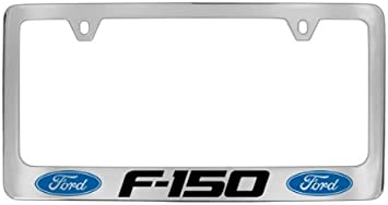 Ford F-150 Built Ford Tough Chrome Steel License Plate Frame Caps Screws