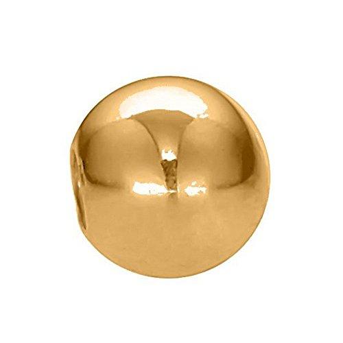 Replacement 3mm 14k Yellow Gold 14 Gauge Body Jewelry Ball 14k Gold 14 Gauge