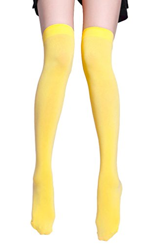 BecyWell Women Girls Solid Color Sexy Opaque Thigh for sale  Delivered anywhere in USA