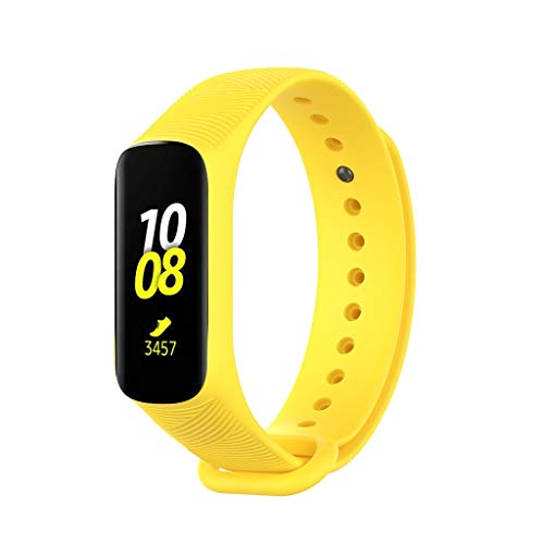 ❤️Jonerytime❤️Small Silicone Replacement Watch Band Wrist Strap for Samsung Galaxy fit-e/R375 (Yellow)