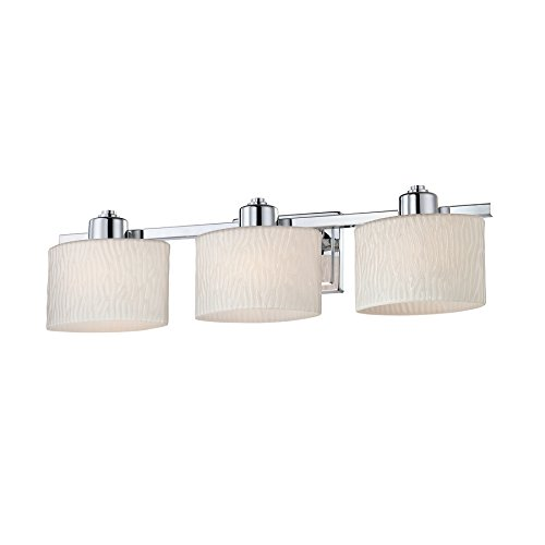 allen + roth 3-Light Grayson Polished Chrome Bathroom Van...