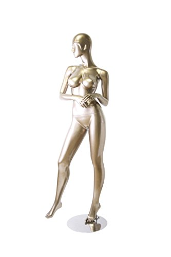 Newtech Display MAF-BRZ-410/SMPE (410) Brazilian Body Trendy Mannequin, Shiny Metallic Pewter by Newtech Display
