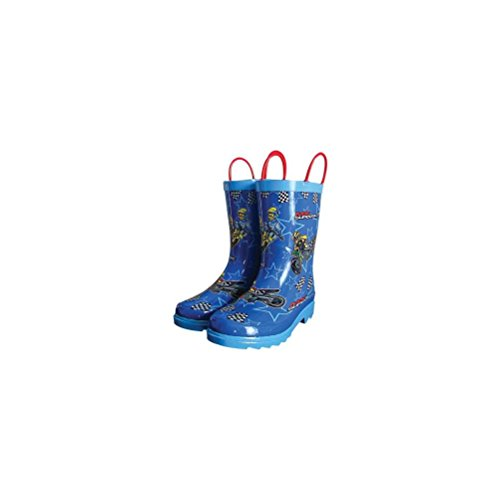 (RAIN BOOTS MX SUPERSTARS SZ YOUTH 11)