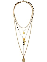 Womens The Vera Layered Rosary Necklace
