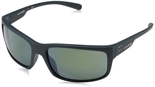 Arnette Men's AN4242 Fastball 2.0 Rectangular Sunglasses, Matte Petroleum /Light Green Mirror Petrol, 62 ()
