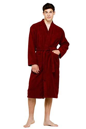 Terry Cloth Robes for Women and Men 100% Turkish Cotton Kimono Womens Robe Mens Bathrobe | White Velour, XX-Large