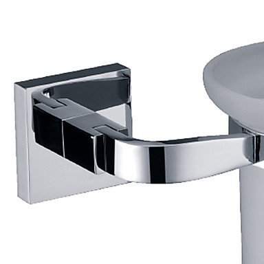 XY&XH Toilet Brush Holder, Contemporary Chrome Wall Mounted Toilet Brush Holder