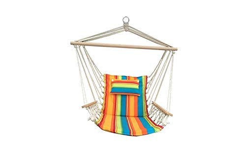 BACKYARD EXPRESSIONS PATIO · HOME · GARDEN 914918 Backyard Expressions Hammock Chair and Stand, Multicolor