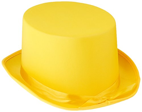 Man With Yellow Hat Costume Amazon (Satin Sleek Top Hat (yellow) Party Accessory  (1 count))