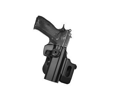 - CZ 75 SP-01 Shadow, CZ75 SP-01 Tactical, CZ75 Compact, CZ75D Compact Polymer Retention Roto Holster with Detachable Mag Pouch by IMI-Defense