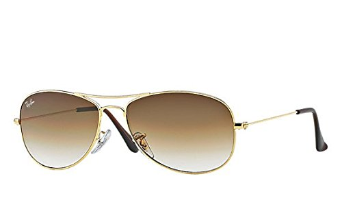 Ray-Ban Unisex-Adult Cockpit 0RB3362 Rectangular Sunglasses, ARISTA, 59 - For Fit Sunglasses Women Asian