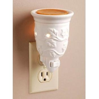 Ceramic plug-in night light aroma wax melter by Darice (Candle Socket Ceramic)
