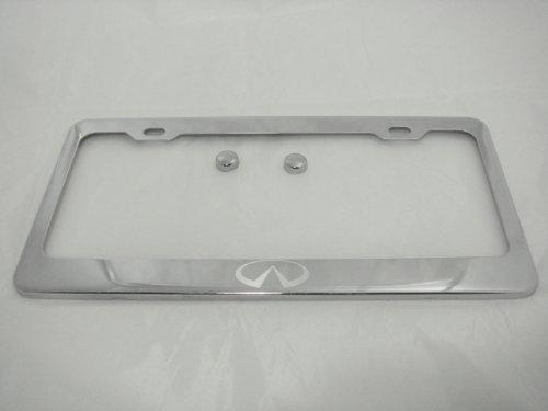 - Infiniti Chrome License Plate Frame w/Caps