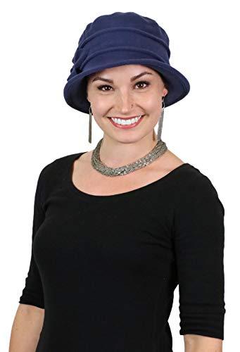 Fleece Flower Cloche Hat for Women Cancer Headwear Chemo Ladies Head ()