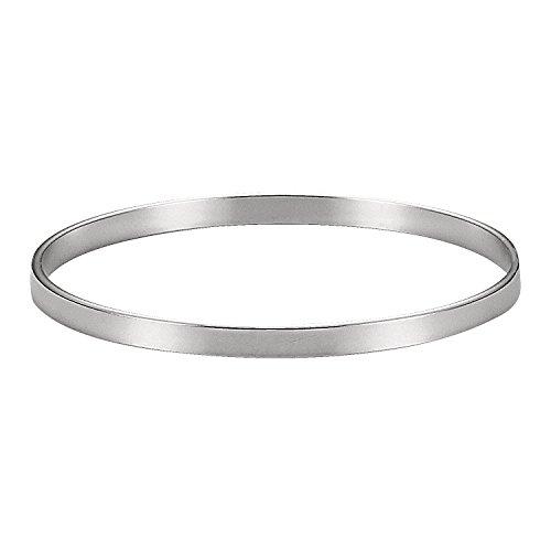 Women's 925 Solid Silver Classic Hoop Bangle Bracelets - 9