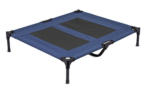 BIRDROCK HOME Internet's Best Dog Cot - 36 x 30 - Elevated Dog Bed - Cool Breathable Mesh - Indoor or Outdoor Use - Medium - Blue