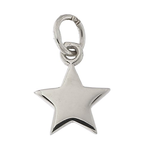 14k White Gold Tiny Star Pendant Necklace, pendant only