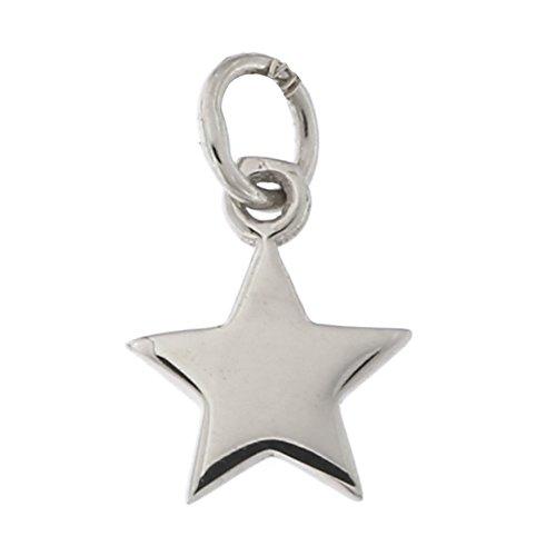 - 14k White Gold Tiny Star Pendant Necklace, pendant only