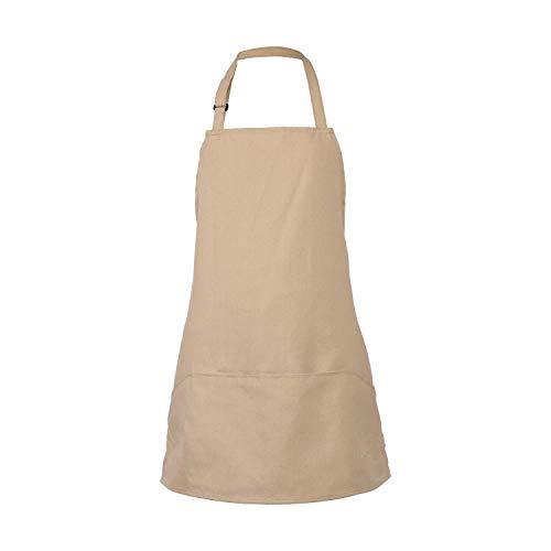 - GNEGNI Adjustable Bib Apron with 3 Pockets-26 x27 Waitress Waiter Server Apron Home Restaurant Kitchen Cooking Apron for Man&Women(Khaki)