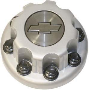 16 17 Inch OEM Chevy HD 8 Lug Silver Painted REAR Center Cap Hubcap Wheel Cover, 2001-2013 # 15053705 5125 5125RS Silverado Express Cutaway 3500 4500 Truck Van DRW Dually