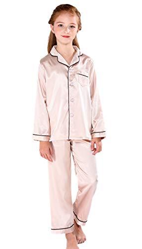 (Horcute Pajamas Little Kid Sleepwears Set Pjs Clothes Long Sleeve Champagne 170#)