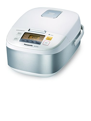 Panasonic 5-Cup (Uncooked) Microcomputer Controlled Rice Cooker & Multi-Cooker, Stainless Steel/White