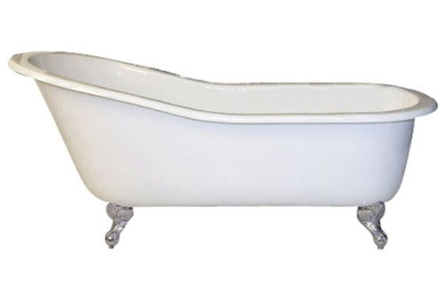 Barclay Cast Iron Slipper Tub (Barclay CTSN67-WH-BL Icarus Cast Iron Slipper Tub In Black)