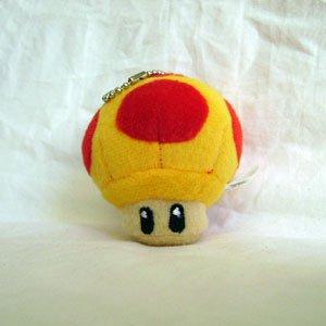 Super Mario Bro. MEGA Mushroom Plush Keychain ()