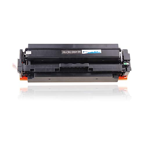 Print-Rite Cartridge 046 H CRG-046H Black Toner Cartridge 1 Pack 6,300 Page  Yield for Use with imageCLASS MF735Cdw MF733Cdw MF731Cdw Color imageCLASS