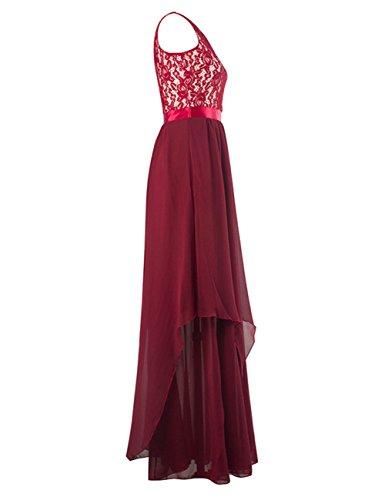 Party Gown Glorysunshine Women Maxi Sleeveless Lace Chiffon Women Modest Glorysunshine 8xwq8UgTZ