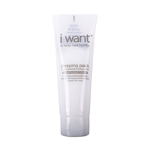 Acetate 100 Gels ([i want] Sleeping Pack for Pore Thightening & Sebum control 100 ml / 3.38 fl. oz., Non-sticky moist gel type.)