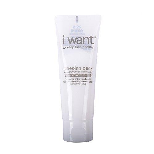 [i want] Sleeping Pack for Pore Thightening & Sebum control 100 ml / 3.38 fl. oz., Non-sticky moist gel (Acetate 100 Gels)