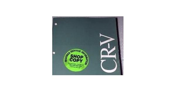 2003 Honda Crv Cr V Electrical Troubleshooting Wiring Diagram Service Manual Ewd Honda Amazon Com Books