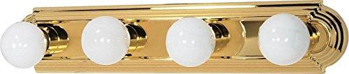 Nuvo Gothamシャンデリア 60/309 1 B0034TTN84 Polished Brass / Alabaster Glass 4Lt バニティーストラップ Polished Brass / Alabaster Glass