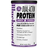 100% Natural Dual Action Protein Powder, Natural Strawberry Flavor 2.1 lbs by Bluebonnet Nutrition (Pack of 3)