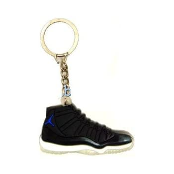 Jordan XI 11 Space Jam Black Blue Sneakers Shoes Keychain Keyring AJ 23  Retro c3a684079bc0