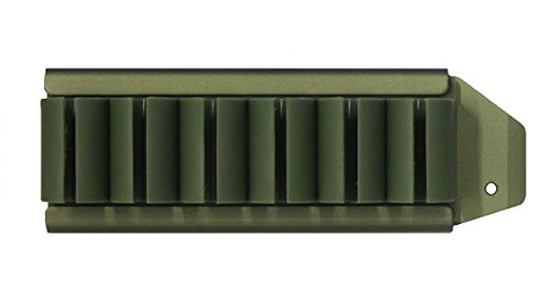 Ultimate Arms Gear OD Olive Drab Green Pro Series Side Saddle 6 Round 12 Gauge Shotshell Shot Shell No Gunsmithing Carrier Mount For The Remington 870 Shotgun (Pro Series Saddle)